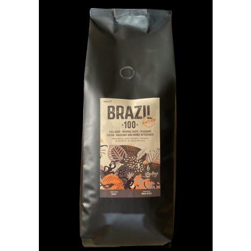 Gallini BRAZIL100 Escuro szemes pörköltkávé (1000 g) 100% Arabica