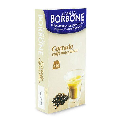Caffé Borbone CORTADO Caffé Machiato Respresso kávékapszula (10 db a dobozban; 99 Ft/Db.)