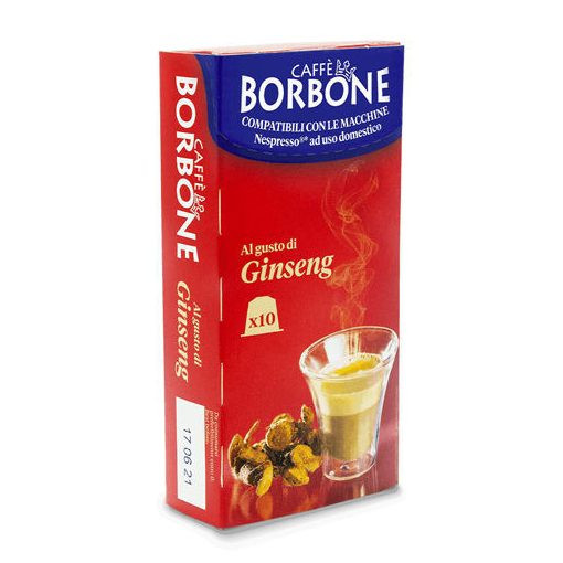 Caffé Borbone GINSENG Respresso kávékapszula (10 db a dobozban; 99 Ft/Db.)