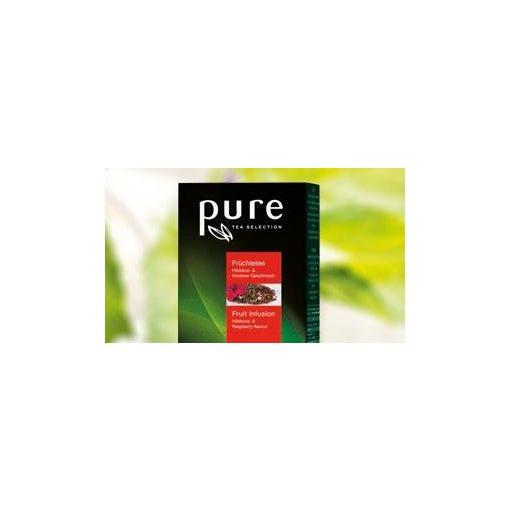 PURE Hibiszkusz-málna gyümölcstea 25x3g egyenként csomagolva aromazáró tasakban