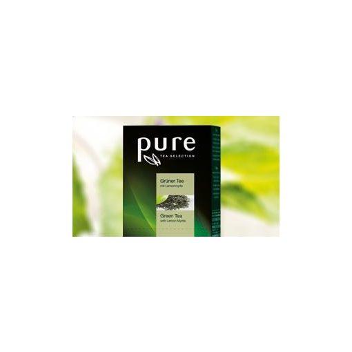PURE Zöld tea citrommirtusszal   25x2g egyenként csomagolva aromazáró tasakban