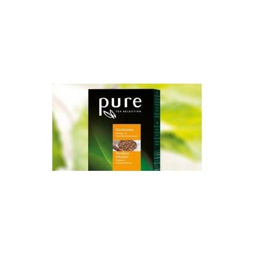 PURE Rooibos Narancs-karamell tea 25x3g egyenként csomagolva aromazáró tasakban