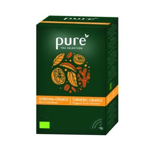 PURE Kurkuma-narancs Bio gyümölcstea 25x3,5g egyenként csomagolva aromazáró tasakban